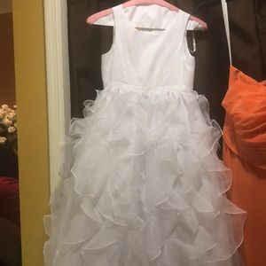 White Flower girl dress size 8